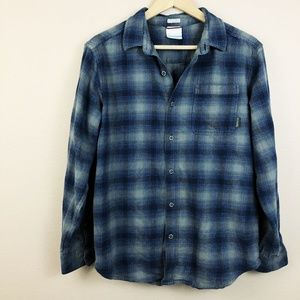 "Columbia ""Regular Fit"" Flannel Plaid Button-Down"